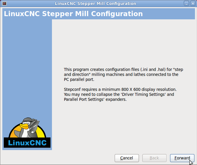 LinuxCNC.Stepconf.02.Start_Page.png